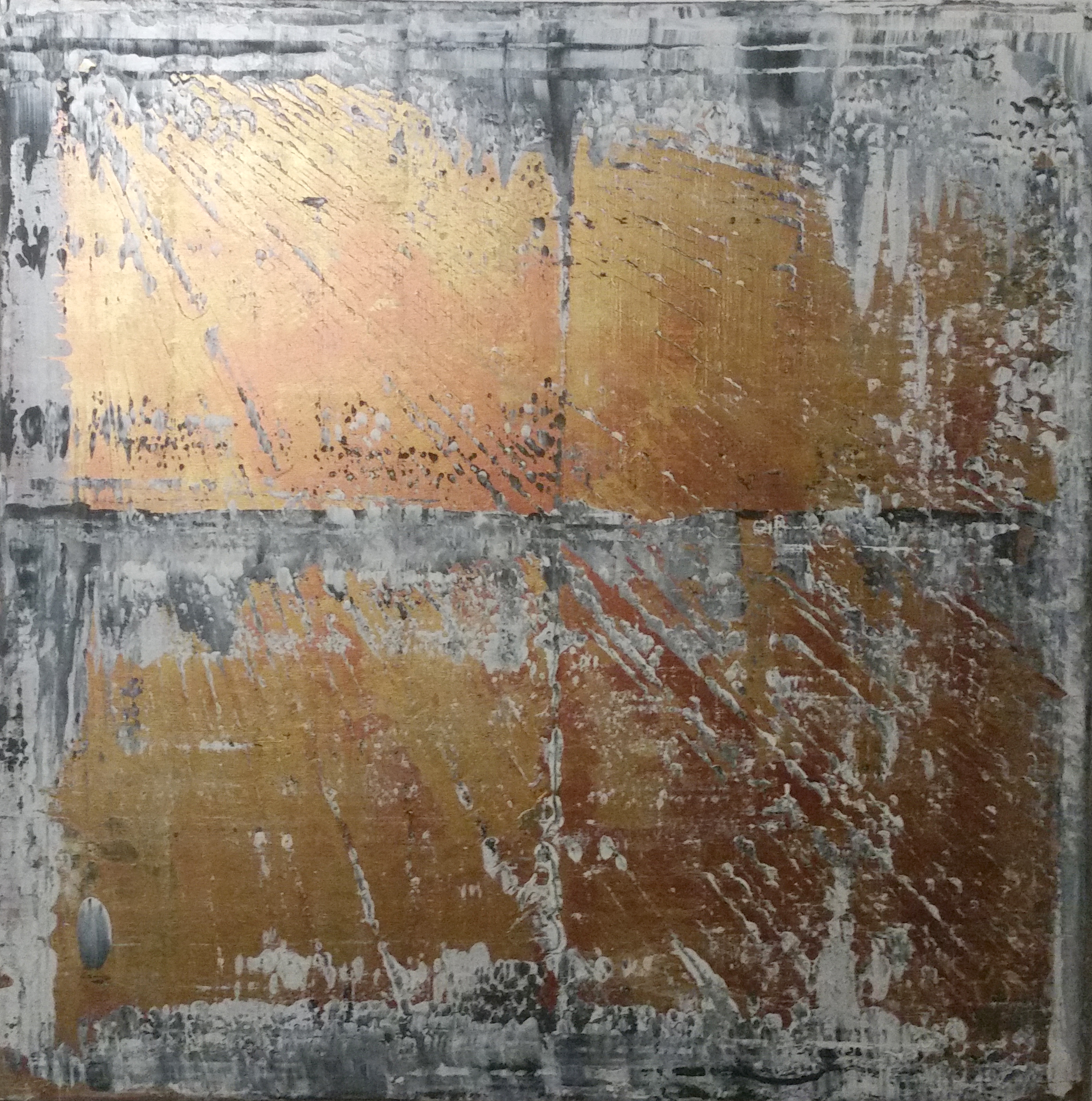 90 x 90 cm, Acryl auf Leinwand, Mischtechnik